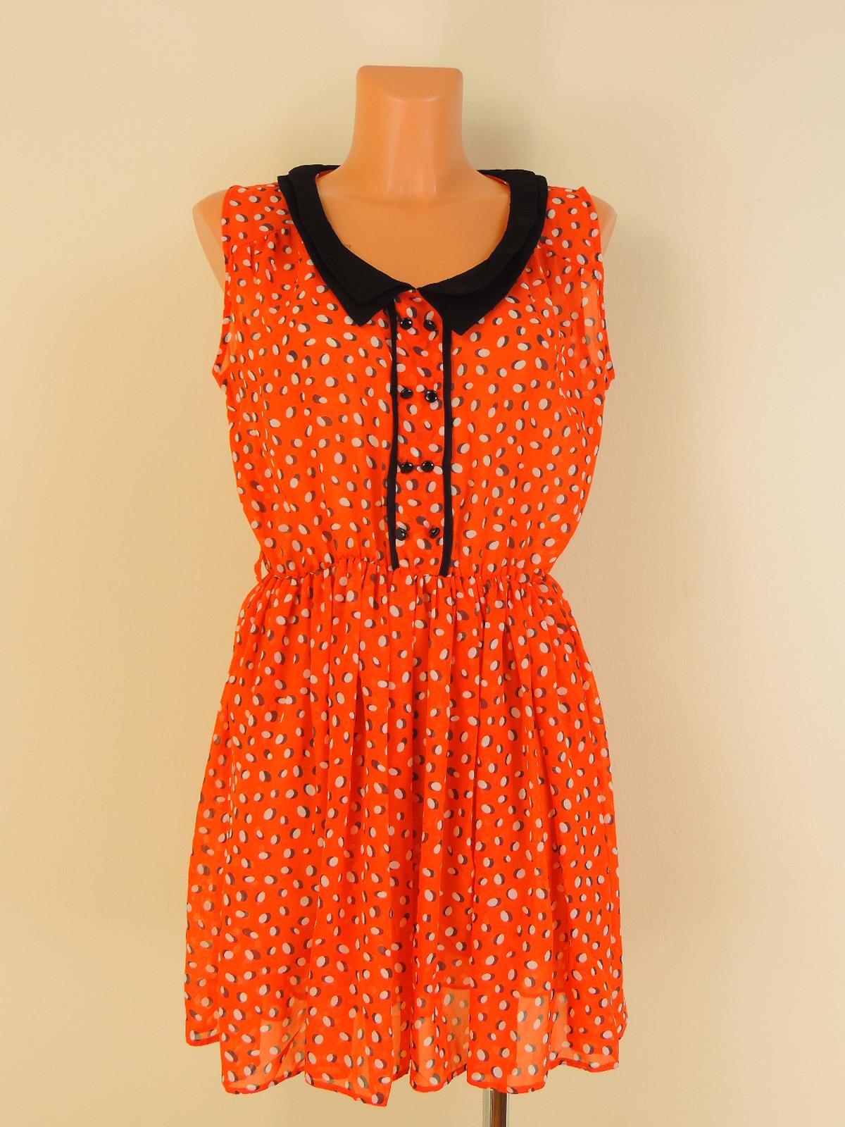 bae99503165c Retro šaty s dvojitým límečkem - Second hand online - Fashion ...
