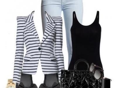Nádherný letní outfit, kdy černé tílko je možné obměnit za bílé, královsky modré /stejně tak i boty a doplňky/