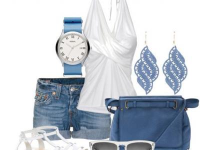Bez bílé a modré se v létě prostě neobejdete! :-)